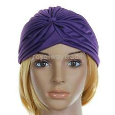 Indian Polyester Pleated Turban Headwrap Chemo Hijab Hairband Cap Twist Hat New
