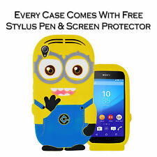 Despicable Me Minion Soft Silicone Gel Back Case Cover Pouch For Sony Xperia Z3