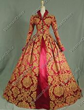 Renaissance Brocade Tudor Queen Elizabeth Dress Ball Gown Theater Costume 162