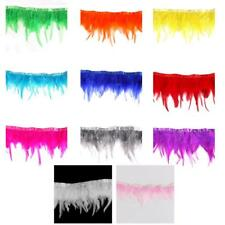 Hackle Feather Fringe Trim 1 Yard for Crafts/Costume/Sewing/Millinery 11 Colors