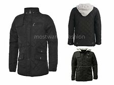 Henleys Hunter Jacket Quilted Hooded Coat Mens Youths Boys Black Size Small New