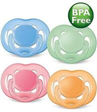 Avent 6-18 Month Soothers/Dummies - Free Flow - Extra Air Flow - Choose Colour