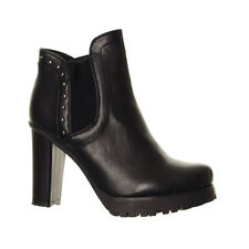 Women's Heeled Platform Studded Chelsea Boots Ladies High Heel Ankle Boots Shoes