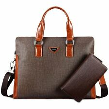 Men Business Briefcase Laptop Handbag Package Wallet Shoulder Crossbody Tote