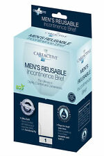"CareActive Mens Reusable Briefs Small 30"" - 32"" 12/Case Discreet Pack 6255-1-WHT"