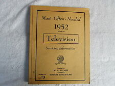 Most-Often-Needed Television Service Information 1952, 1954, 1958, 1960  Box - C