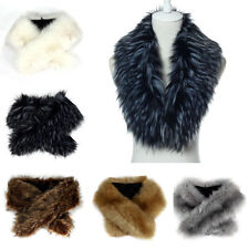 Winter Fashion Faux fox fur collar scarf shawl collar women's Wrap Stole Scarves