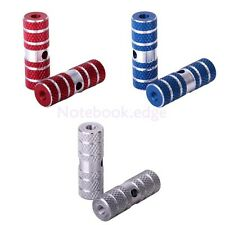Pair Anti-slip BMX Bike Bicycle Axle Foot Pegs Red Silver Blue Cycle MTB Cycling