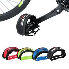 Fixed Gear Fixie BMX Bike Bicycle Double Straps Pedal Toe Clip Strap Belt BP3A