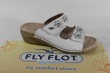Fly Flot Ladies Slippers Slippers House Shoes Leather white touch fastener new