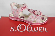 s.Oliver Girls Sandals rose/ pink, Leather insole, flat new