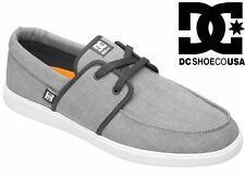 DC SHOES men's HAMPTON trainers GREY WHITE GRW skate vans canvas plimsolls NEW