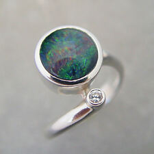 Schmuck-Michel Women's Ring Silver Opal-Triplet 10 mm Size 50-65 to choose 1140