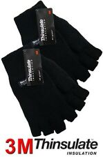 MENS/LADIES THINSULATE INSULATED FINGERLESS GLOVES THERMAL WINTER USE