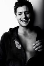 "Jensen Ackles Actor Star Fabric poster 36"" x 24"" Decor 04"
