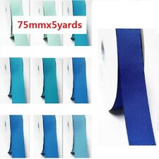"""by 5 Yards Grosgrain Ribbon 3"""" /75mm Wide,lot Blue s #352 to #374"""