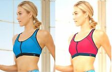 NWT Champion The Zip Sports Bra Wirefree Cups Racerback Double Dry™ Technology
