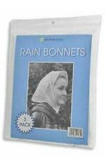 3 Pack Rain Bonnet Hair Protection Clear Hood Festival Party Shopping