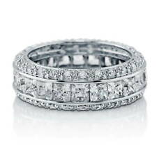 BERRICLE Sterling Silver Channel Set CZ Eternity Band Ring 4.35 Carat