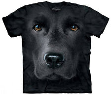 Black Lab Face T-Shirt Oversized Print Dog Mountain Corp 100% Cotton Adult New