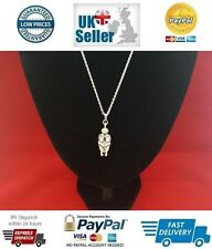 Venus of Willendorf Goddess of Fertility Pendant Sterling Silver Necklace Chain