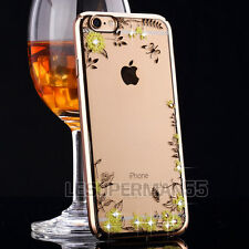 Luxury Bling Diamond Flower Ultra Thin Clear Crystal Case Cover for Apple iPhone