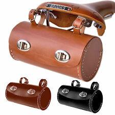 Large Hand Stitched Leather Bicycle Touring Saddle Bag | Colours Tan Brown Black
