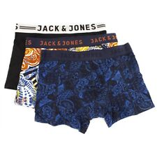 Jack & Jones JJ PAISLEY Mens Boxer Shorts Trunks Underwear 3 Pack Orange/Blue