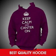 KEEP CALM AND CANTER ON Horse Riding Hoodie Hoody - Any Colour/Size TOP QUALITY