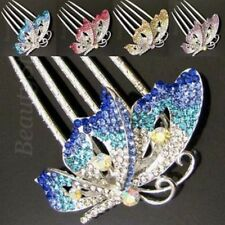 ADD'L Item FREE Shipping - Rhinestone Crystal Butterfly Hair Comb French twist