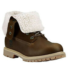 Timberland AF Authentic Teddy Roll Top Womens Boots  Brown Leather 8310A D128