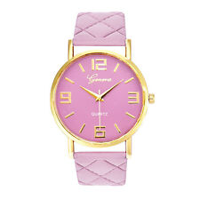 Women Watch Ladies Geneva Faux Leather Analog Quartz vintage vintage Wrist Watch