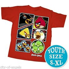 Angry Birds Youth Kids T Shirt Large Red 100% Cotton