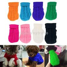 Dog Puppy Warm Winter Knitted Sweater Clothes Apparel Costume 4#/6#/8#/10#12#