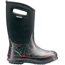 BOYS BOGS CLASSIC SPIDERS BLACK INSULATED NEOPRENE WARM WELLINGTON BOOTS 52510