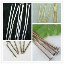 Wholesale 100Pcs Silver/Golden/Bronze/Copper Plated Head Pins Needles Findings