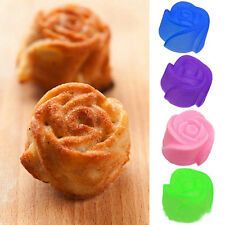 5pcs Fancy Silicone Rose Muffin Cup Cake Baking Mold Chocolate Jelly Maker Mould