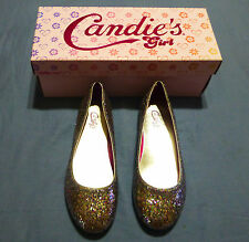 Candies Girls Youth Ballerina Style Flats Color: Metellic SilverSizes: 3,4&5 NWB