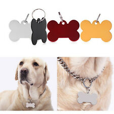 Puppy Pet Dog Cat Small Stainless Bone Print ID Name Collar Personalized Tag Pop