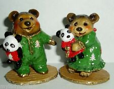 WEE FOREST FOLK SPECIAL COLOR CHRISTMAS  NIGHTIE BEAR & NAPTIME WITH DOLLY SET