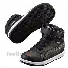 Shoes Puma Liza Mid V Kids 359073 04 Black Sneakers Girls Leather Moda Fashion