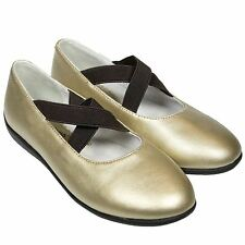 Girls Kids Toddler Infant Faux Leather Ballet Flat Shoes - Plain Gold