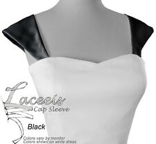 Cap Sleeves or Corset Kit Makes Wedding Gown Fit Black Blue RED Pink