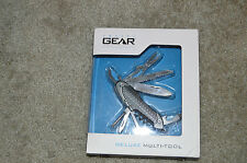 New TRAVEL GEAR Deluxe Multi-Tool Pocket Knife Black Handle Outdoor Camping