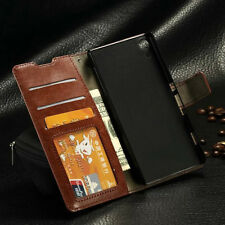 New Luxury Leather Magnetic Flip Card Wallet Stand Case Cover Pouch For Sony Z4