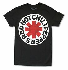 "RED HOT CHILI PEPPERS ""SCRATCHED LOGO"" ASTERISK BLACK T-SHIRT NEW OFFICIAL RHCP"