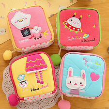 Girl Lovely Cartoon Sanitary Napkin Towel Pads Small Bag Purse Holder Organizer