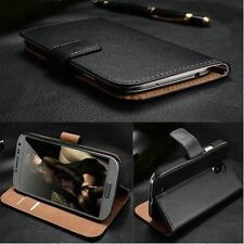 Luxury Real Genuine Magnetic Flip Wallet Leather Stand Case For LG Smart Phone