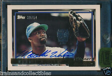 2015 TOPPS ARCHIVES SIGNATURE MOOKIE WILSON #39/54 1992 TOPPS #436 GOLD