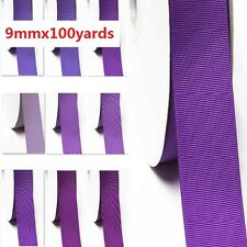 """by  wholesale 100 yards  best yama grosgrain ribbon 3/8"""" /9mm for , lilac purple"""